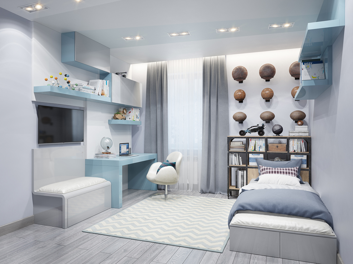 blue-sports-bedroom-theme-for-young-child