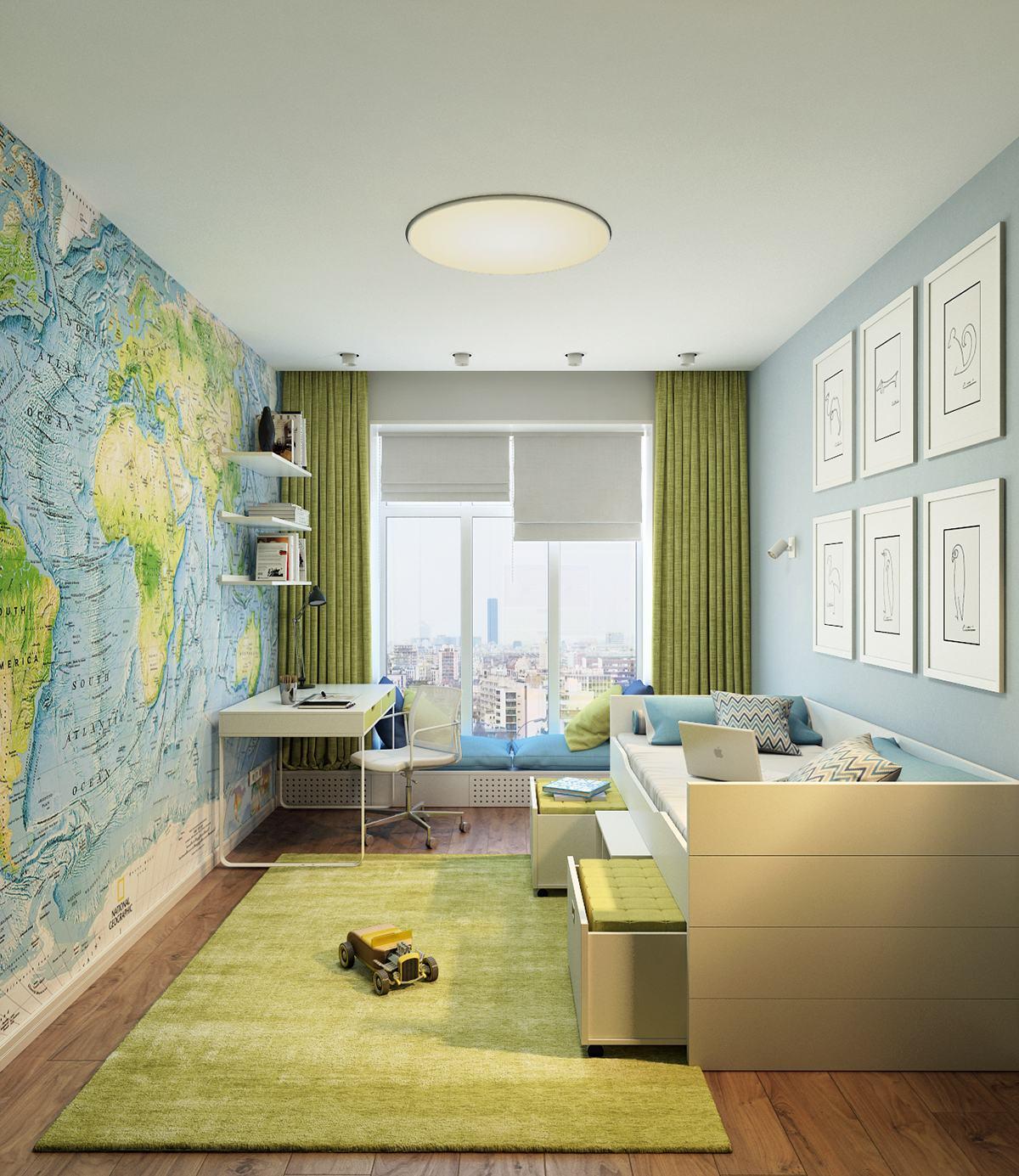 stylish-map-kids-bedroom-decor