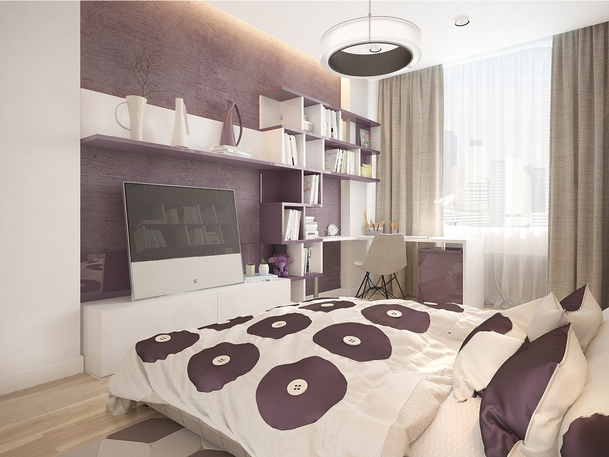 sweet-purple-girls-room