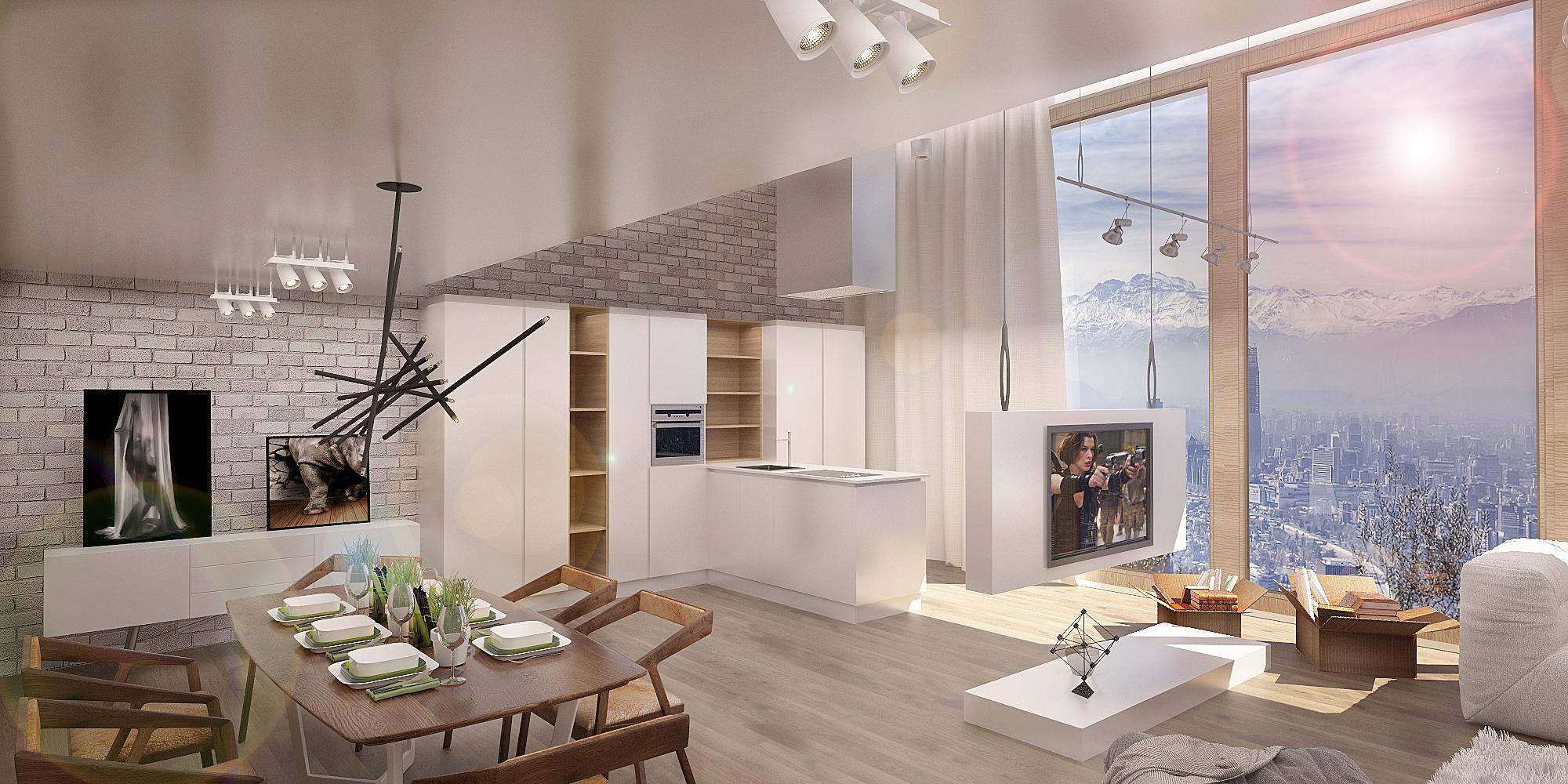 дизайн кухни -студии