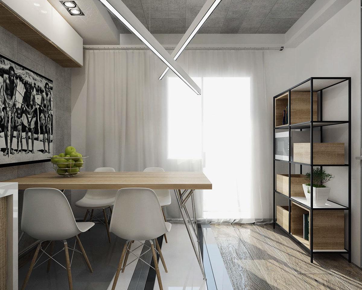 Кухня дизайн бетон