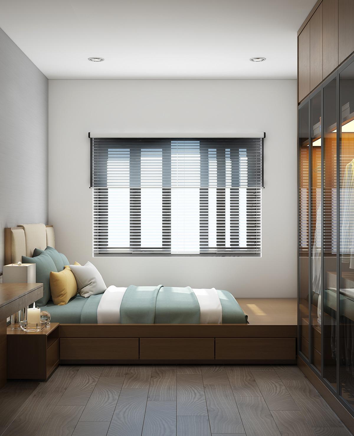 Спальня дизайн окно