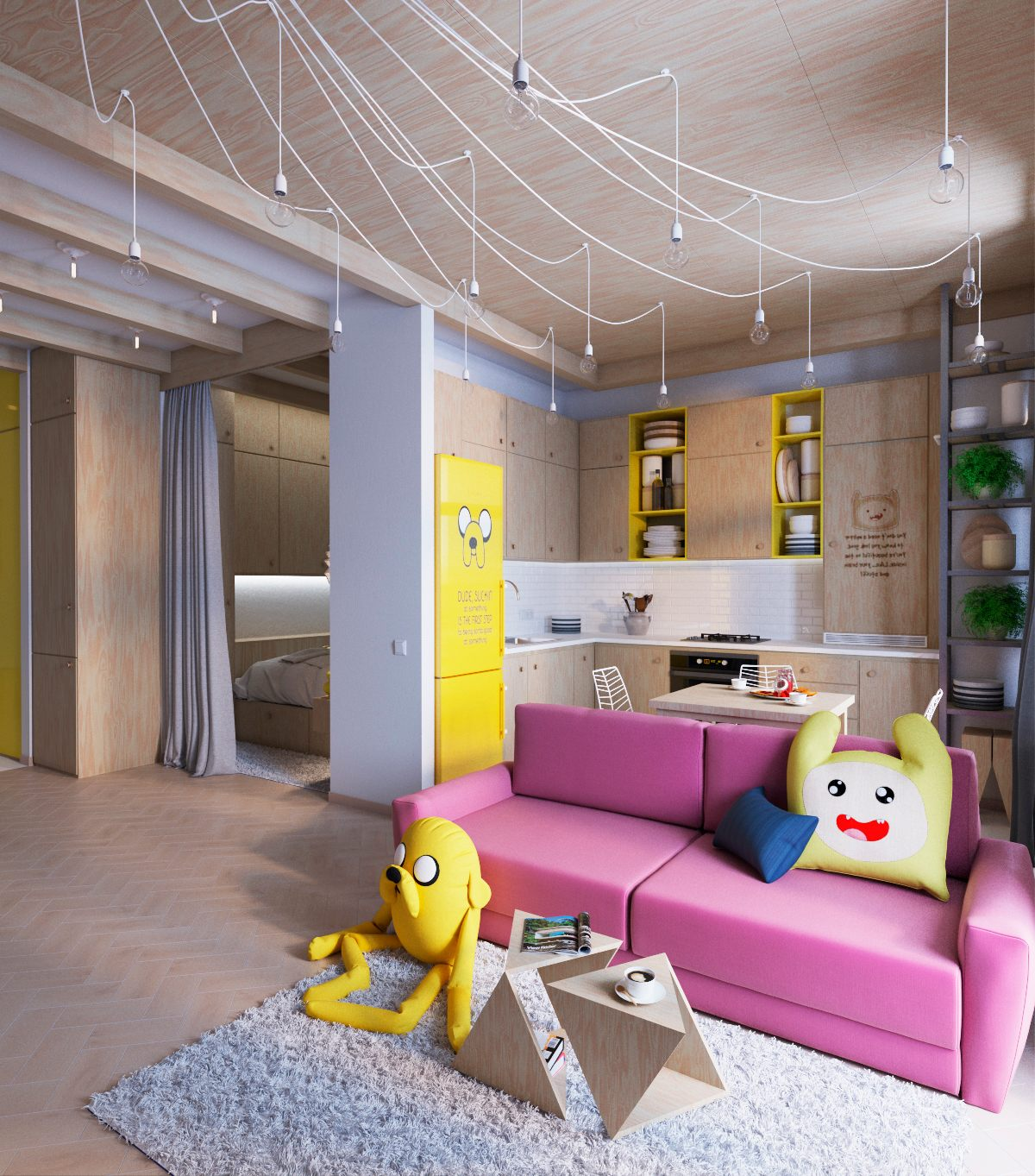 adventure-time-living-room-theme