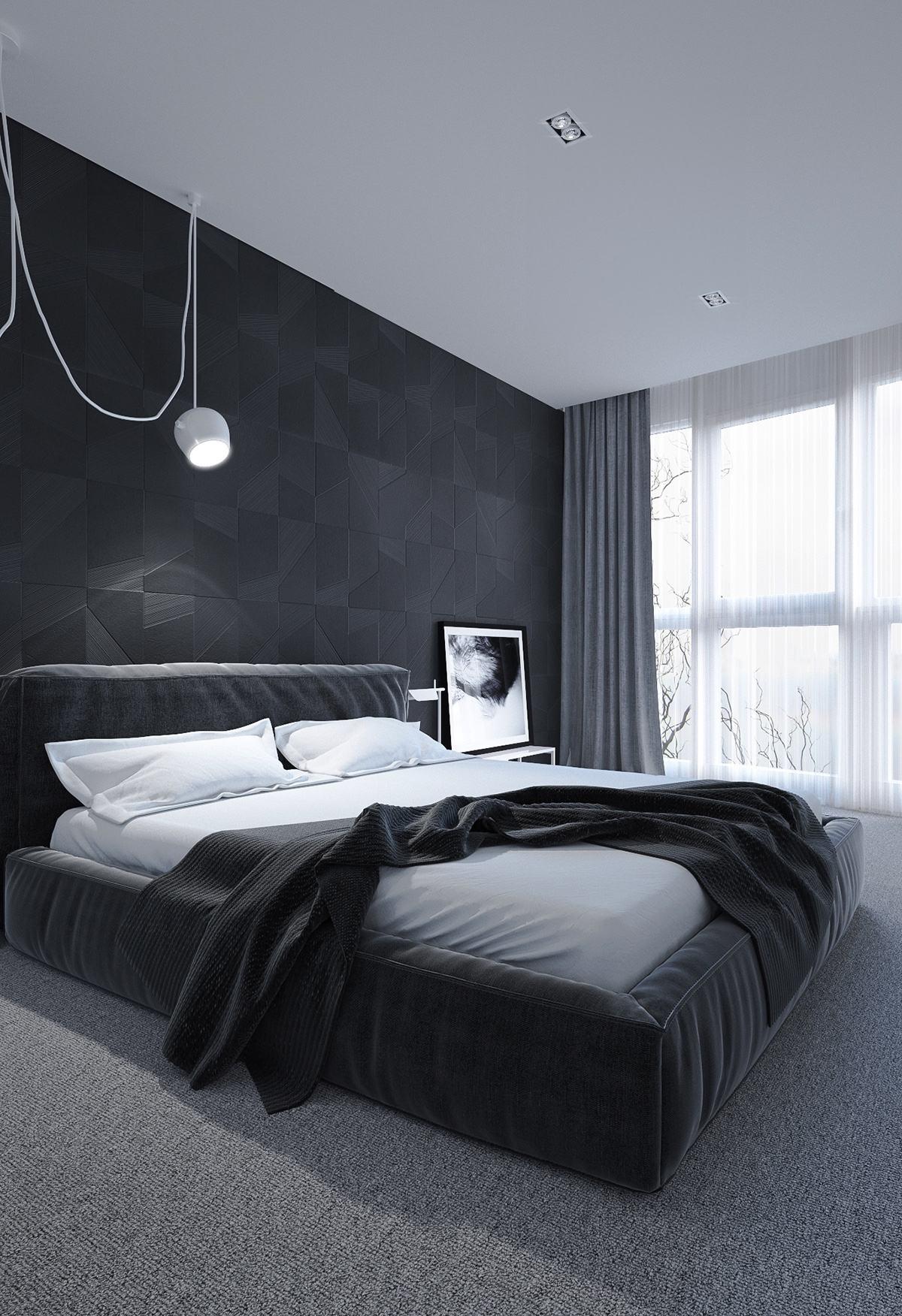 black-and-white-bedroom-design