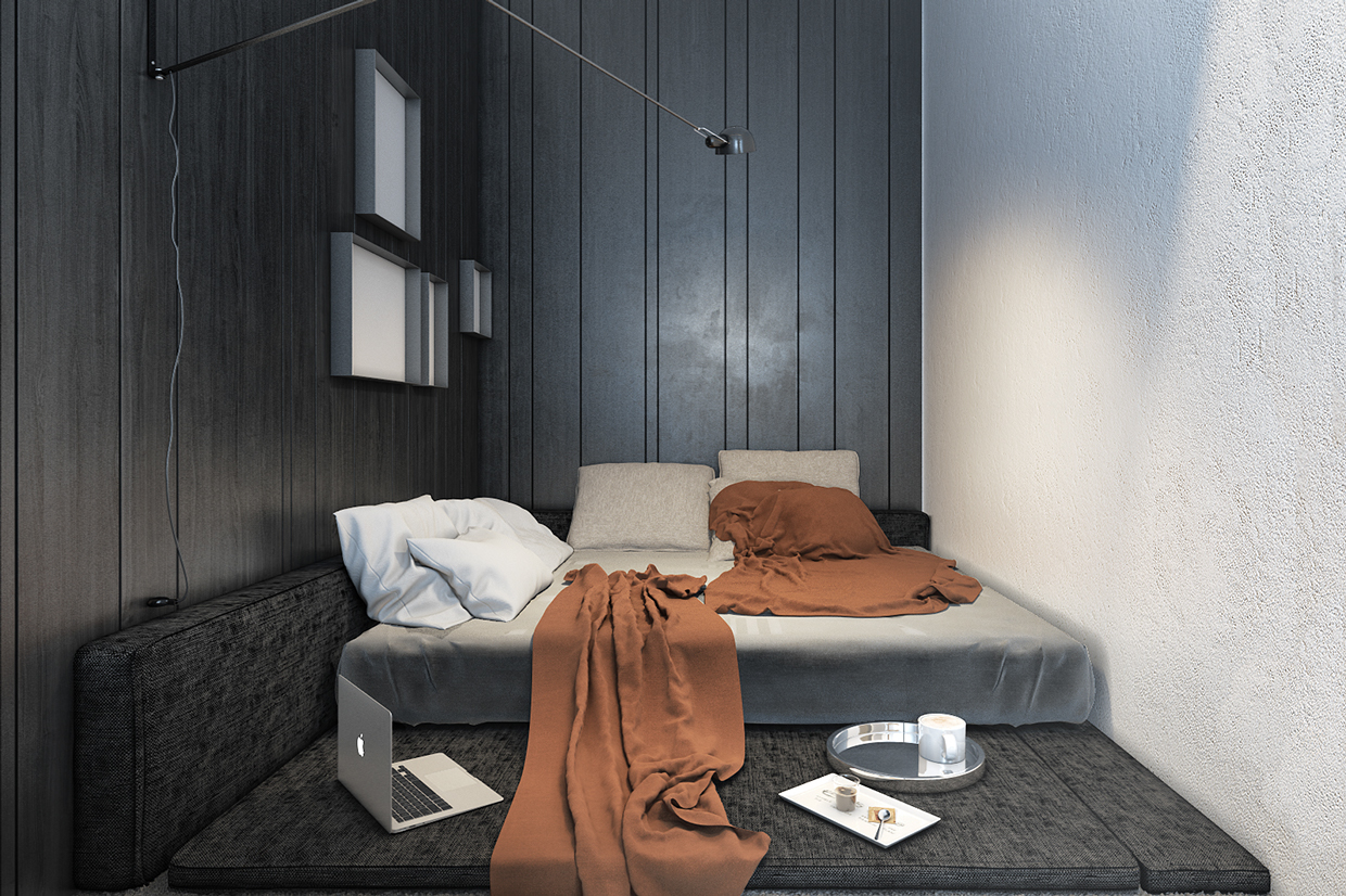 comfortable-small-apartment-bed