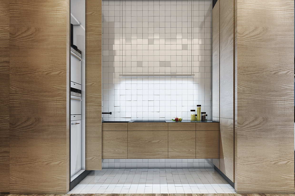 distressed-white-tiles-in-modern-kitchen