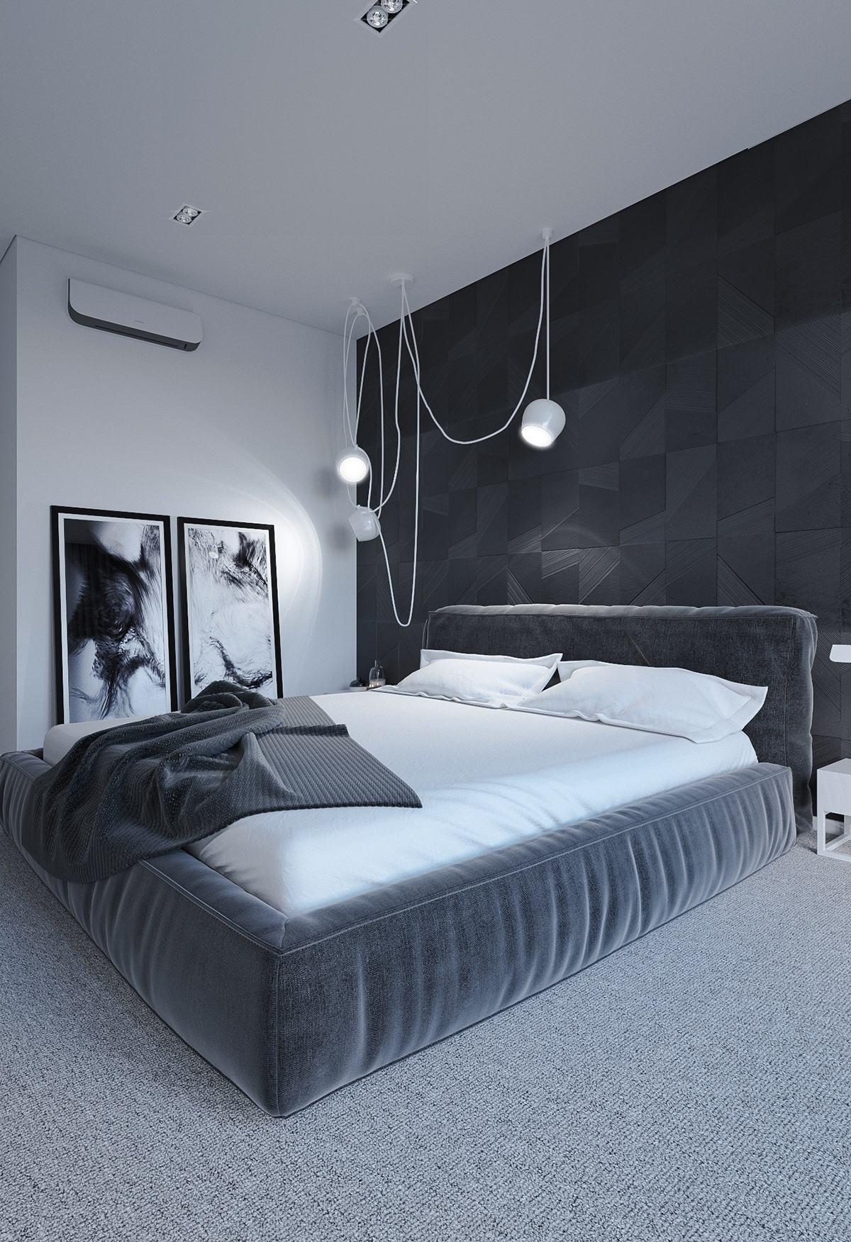 geometric-black-bedroom