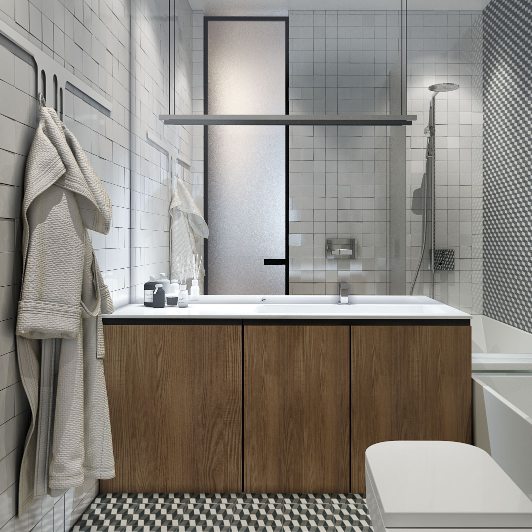 geometric-small-bathroom-theme