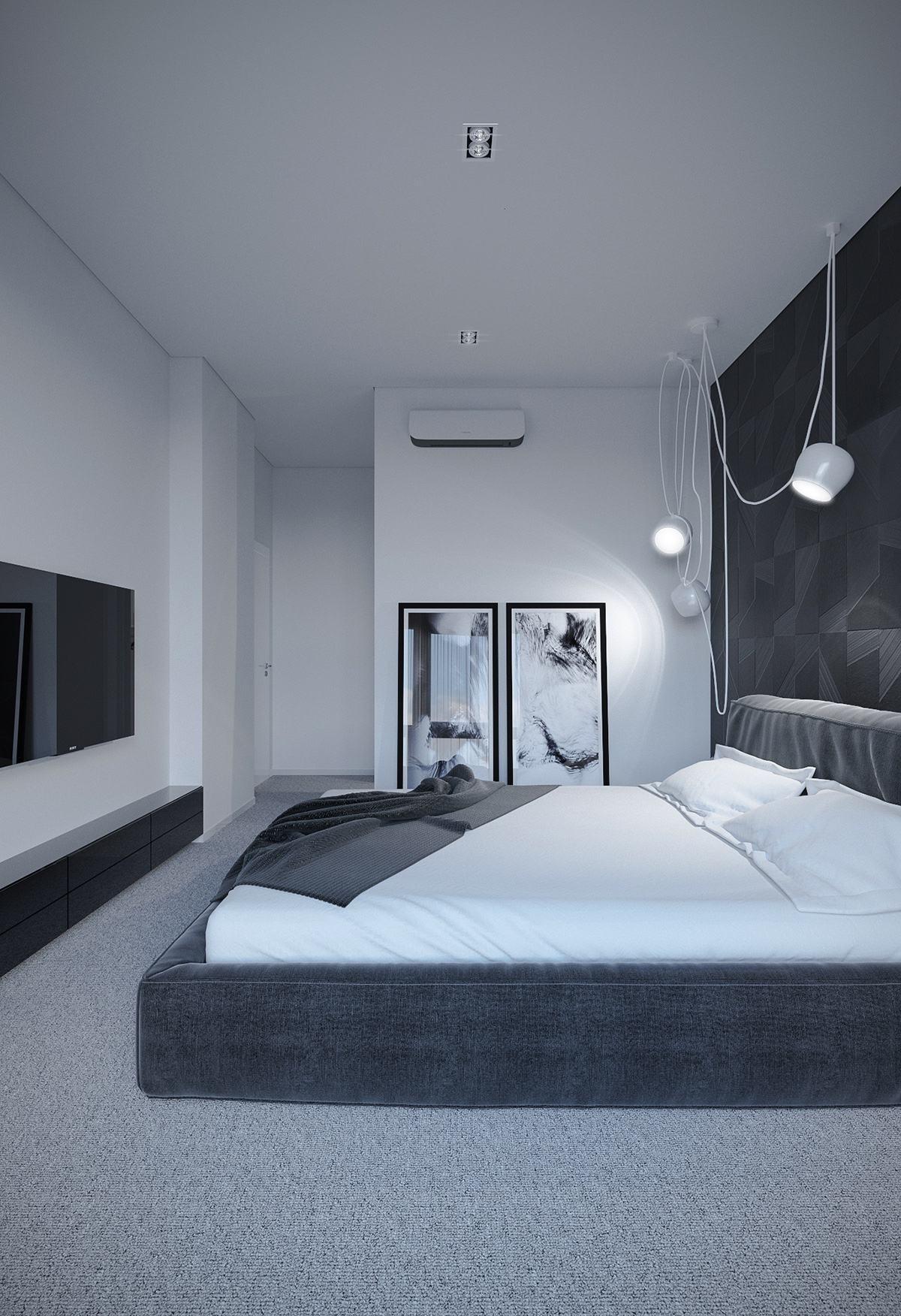 high-contrast-black-bedroom