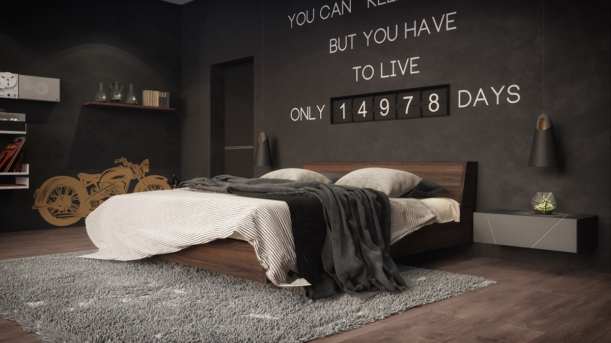 masculine-dark-bedroom-design