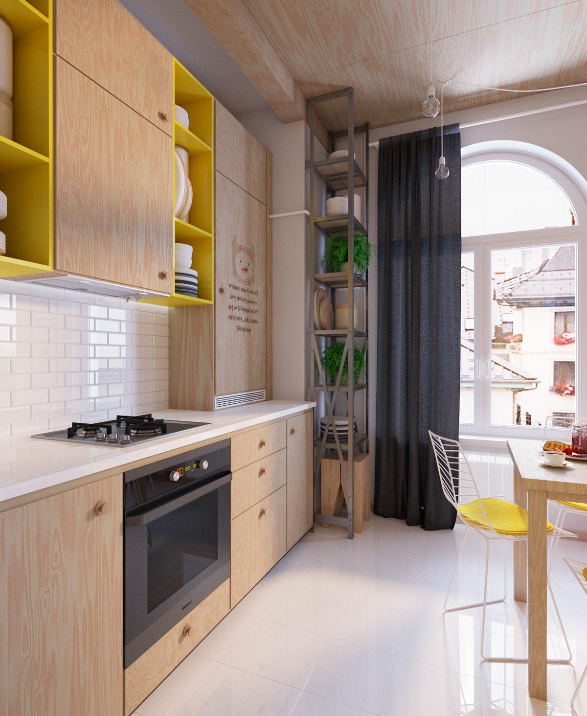 modern-yellow-kitchen-decor