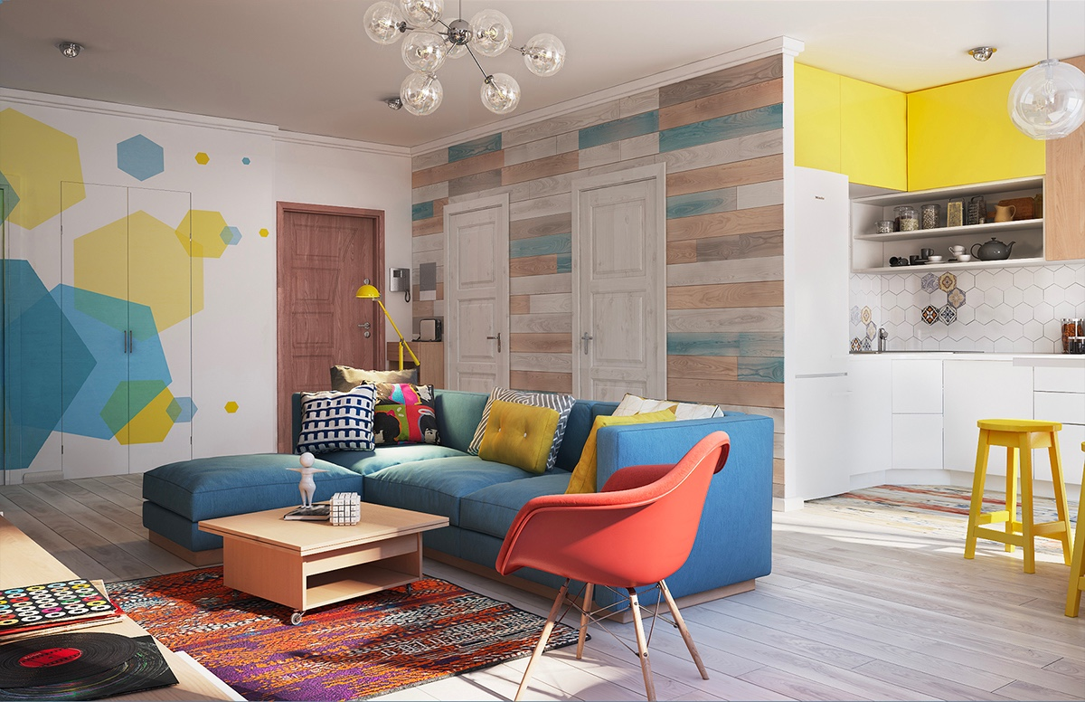 Яркие дизайны квартир фото